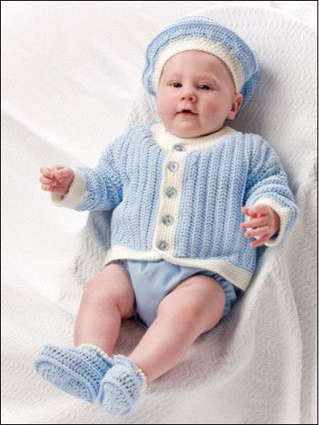 Cute crochet baby outfit
