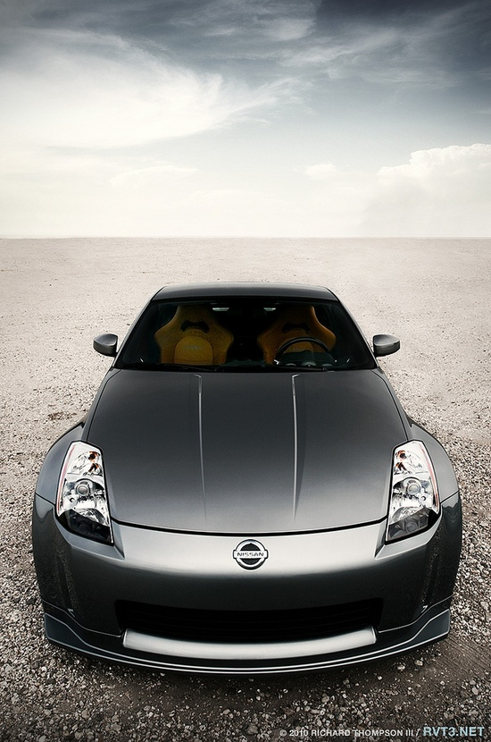 Nissan 350z - my fiance's car...looks amazing after everything he did to it this summer!