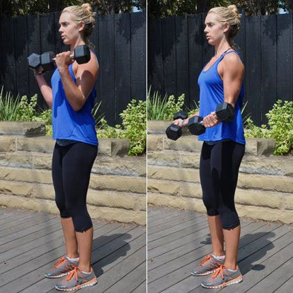 Work on those tank top arms with some bicep curls. Here's how to do them with perfect form.