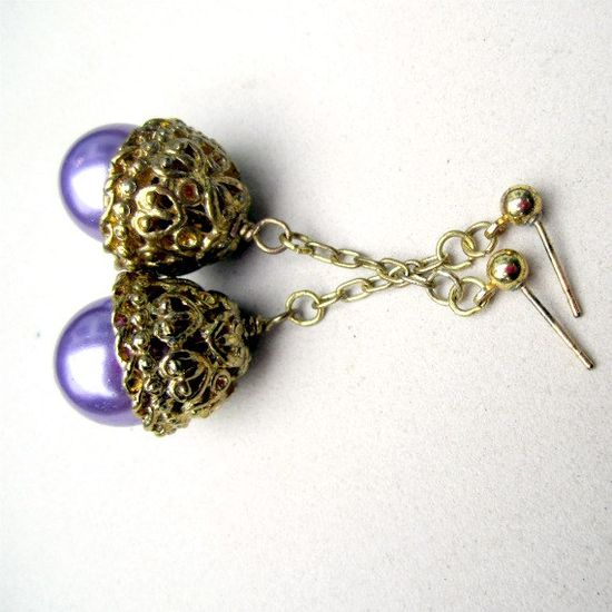 Cute chunky purple earrings!