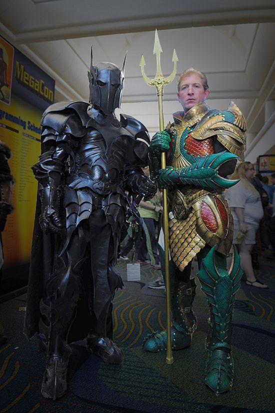 Medieval Batman and Aquaman armor by azmal