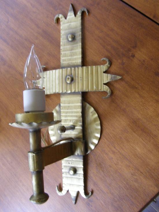 Vintage Iron Gothic sconce lamp Art & Craft Medieval Lamp. $48.00, via Etsy.