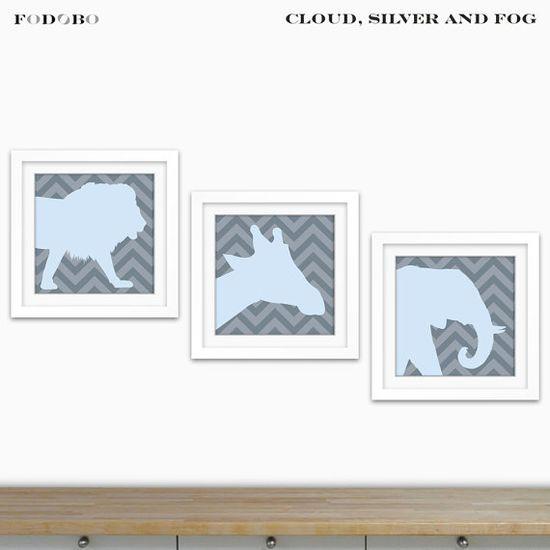 Safari Nursery Zoo Animals Wild Animals Kids Wall Art by FODOBO, $35.00