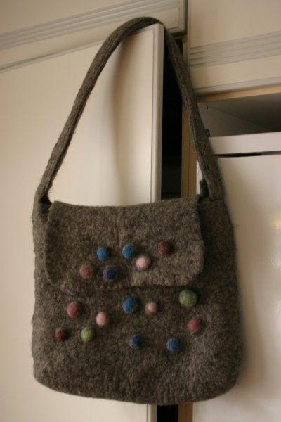 felted felting bag