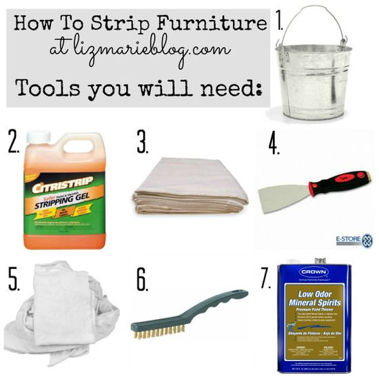 "how to strip painted furniture: A complete list of all the tools you will need, a full tutorial, & before and after photos of the process. A must ""pin"" if you ever plan on stripping painted furniture!"