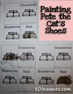 Pete the Cat: I love my White Shoes – Painting With Food Fun! - 3Dinosaurs.com