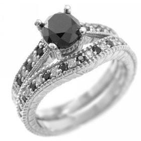 Black Diamond Ring.  I love black diamond!  =)