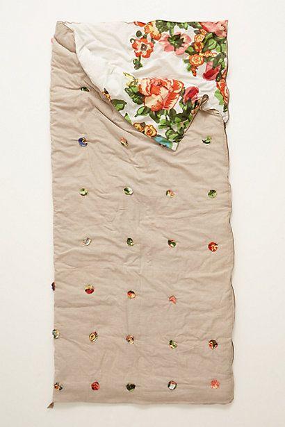 floral sleeping bag