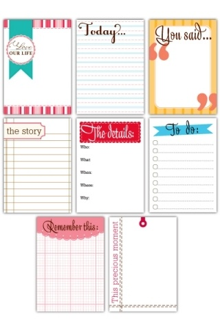 Journaling Card Printables