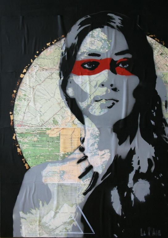 "Saatchi Online Artist: Natasja Snoeijer; Paint, 2013, Street Art ""Pachamama"""