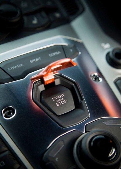 Lamborghini Aventador Start Button