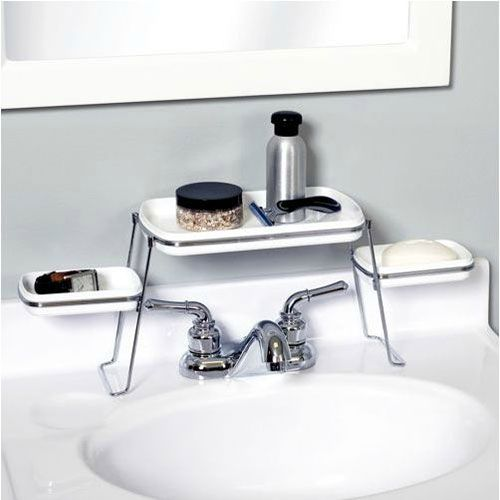Over-the-faucet Shelf for Small Bathrooms