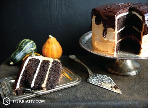 Devil's Food Chocolate Cake - Halloween Sweet Treat