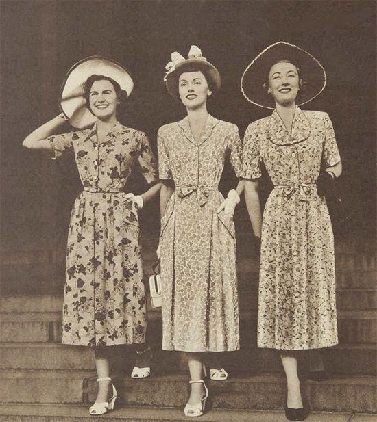 1950s Adelyn spring floral dresses #vintage #1950s #fashion