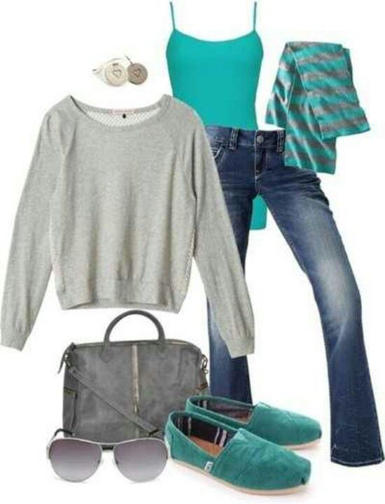 Blue & Gray clothes for #clothes summer #tlc waterfalls #clothes for summer #summer clothes