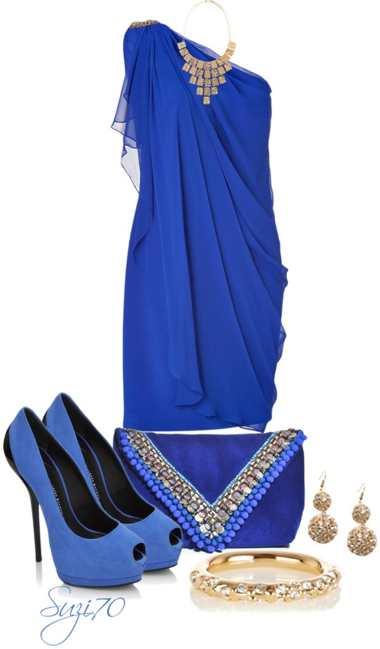 """Bold in a Blue Dress"" by suzi70 ❤ liked on Polyvore"