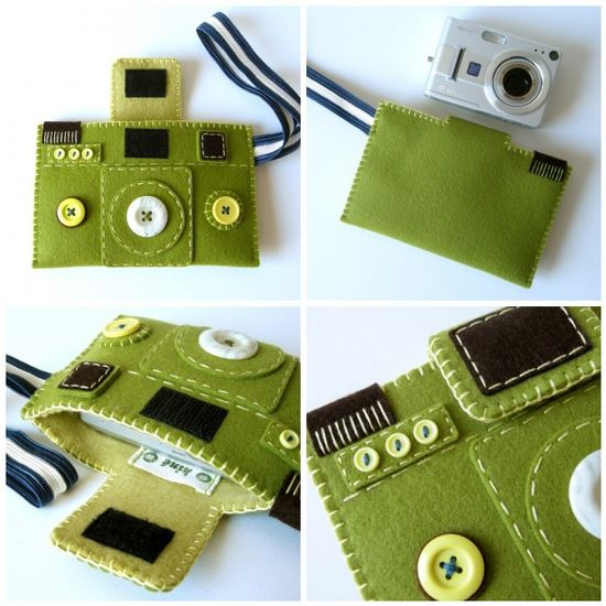 A felt camera tote for the shutterbug in your life. Pick a few colors of felt from our selection and get started!    www.beverlys.com/...    #felt #feltcraft #feltcrafts #diy #diycraft