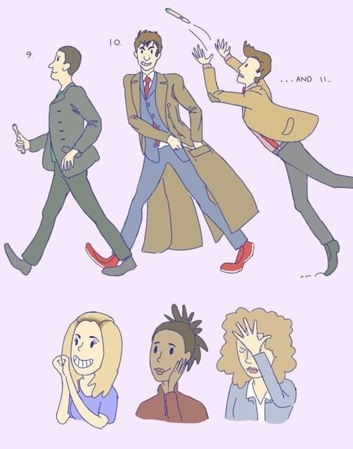 "This is perfection.  Rose -""oh!"" *gazes adoringly* Martha - ""wow..."" *dreamy sigh* River - *facepalm*"
