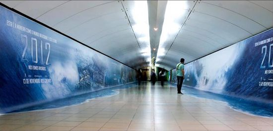 2012 Movie Ad: 122 Must See Guerilla Marketing Examples Photo