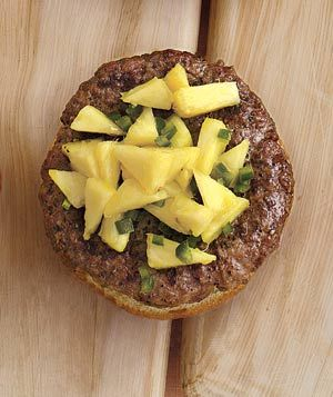 Burgers With Pineapple-Jalapeno Salsa