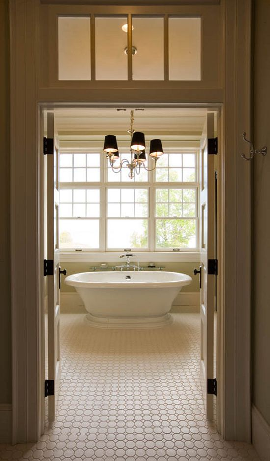 Bathroom - octagon tile by Daltile