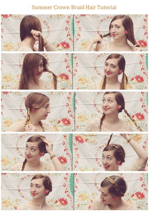 Summer Crown Braid Hair Tutorial