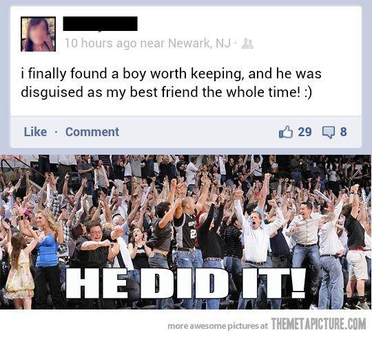 Finally someone escapes the friendzone…