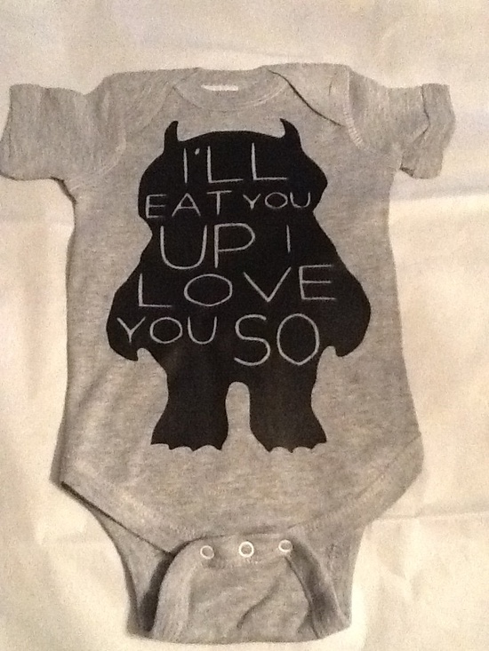 Cute Where the Wild Things Are Onesie-Choose Your Color. $13.00, via Etsy.