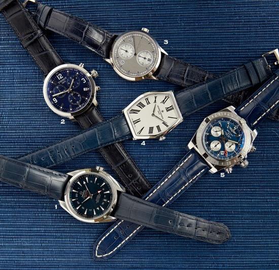 Indigo-inspired watches (Photo by Raymond Horn)