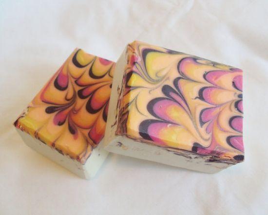 Black Raspberry Vanilla Soap Cold Process by sugarandspicesoaps, $4.50