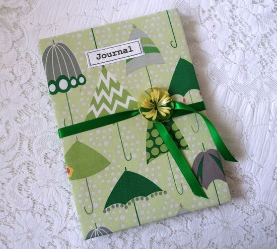 Handmade journal - rainy days £17.95