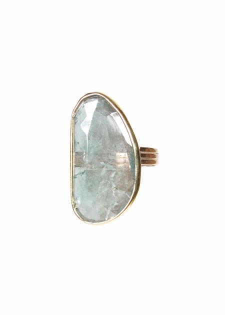 Tourmaline Slab Ring.