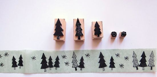 5 stamps  FOREST OF STARS by Citoyennes on Etsy