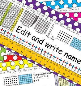 3rd Grade Common Core Editable Desk Plates