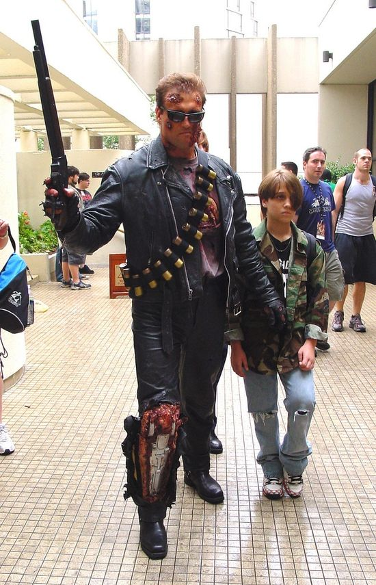 Best Cosplay Ever (This Week) - Terminator and John Connor, photographed by Matt & Kristy.  If I were to go into costuming professionally, I would totally do cosplay stuff.