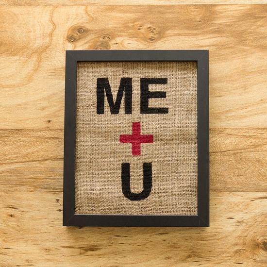 Me and U burlap decor [burlap] I ballarddesigns.com