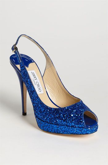 Something Sparkly & Blue: Jimmy Choo 'Clue' Slingback Pump ( #Nordstrom Exclusive) #Wedding