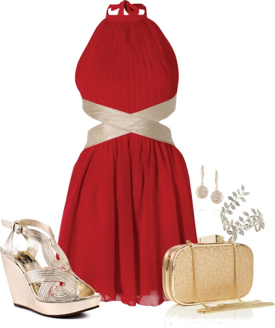 """Grecian Goddess in Red"" by happygirljlc on Polyvore"
