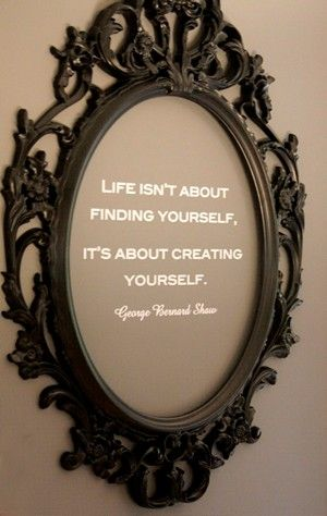 put your favorite quote in a nice frame to dress up your walls-inexpensive! :)
