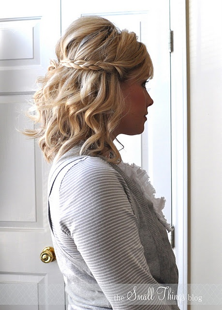 Cute braid with curls