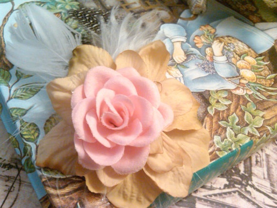 Wings and Feathers Pink and Khaki Victorian Hair by PoisonGarden, $5.00
