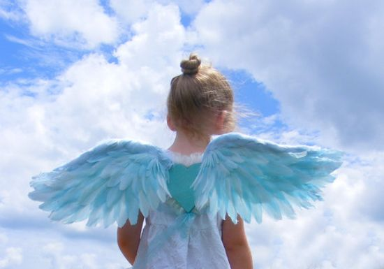 Child's Costume Wings Sky Blue by No9DreamLand on Etsy, $175.00