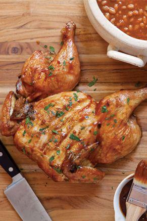 Paula Deen Chicken Under a Brick