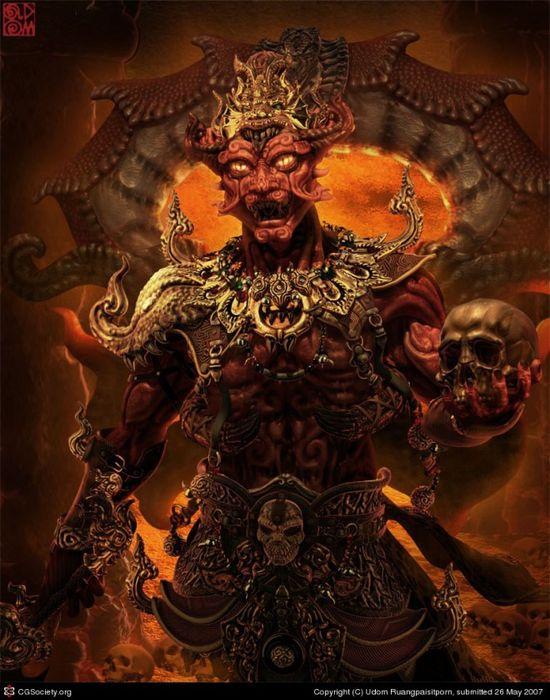 evil maya 3d character