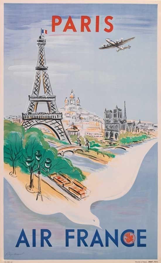 travel posters - Paris #JetsetterCurator