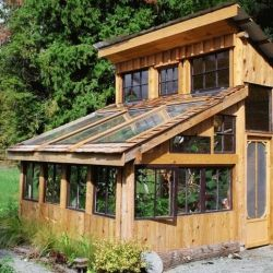 10 Inspiring DIY Greenhouses: Make Your Own Garden Oasis, like this one made mostly from recycled materials (via Eco Friend)