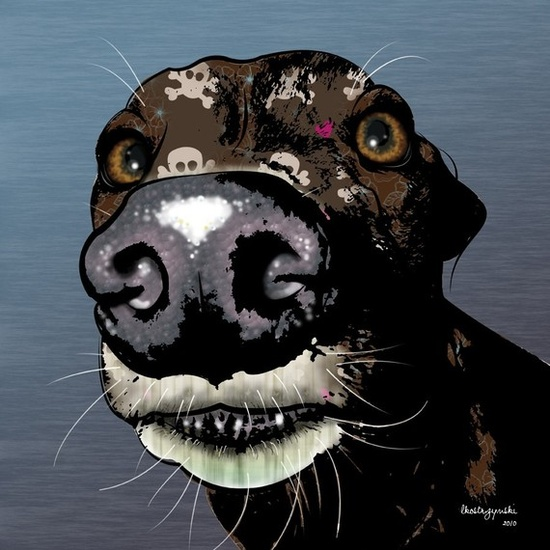 Roscoe Greyhound Pop Art Print Whippet Art by PopDogDesigns, $20.00