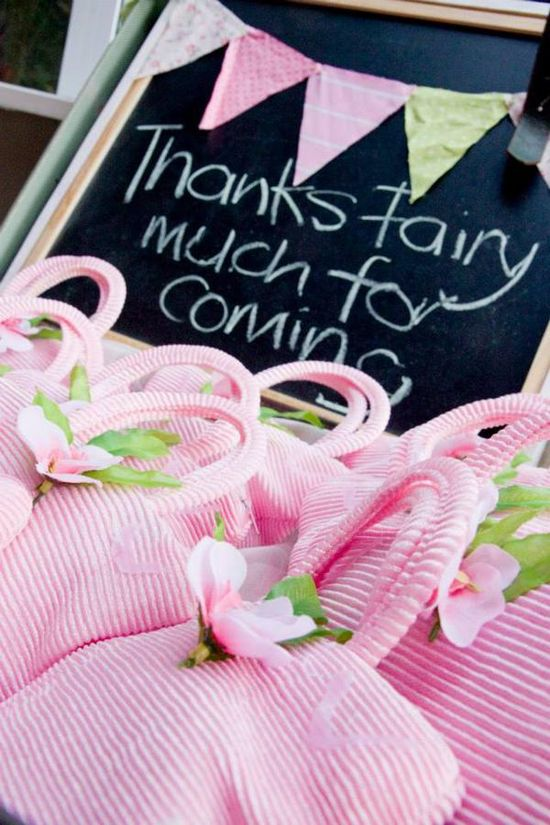 Love this saying idea for FAIRY PARTY FAVORS! found via Kara's Party Ideas