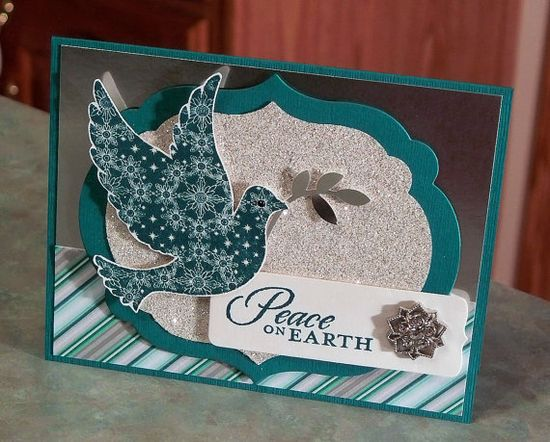 Stampin Up Calm Christmas Card  Peace on Earth by WhimsyArtCards,