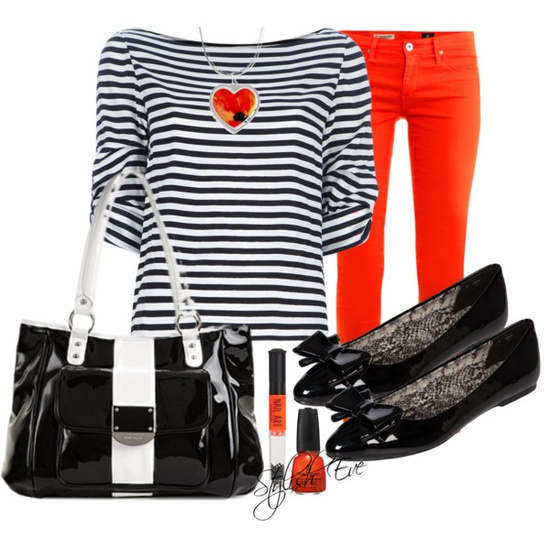 """Striped Outfit !"" by stylisheve on Polyvore"